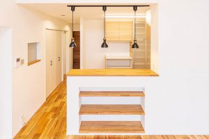 セミオープンキッチンの施工例