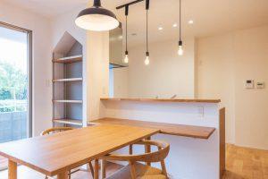セミオープンキッチンの施工事例