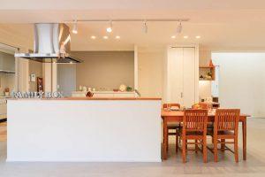 オープンキッチンの施工事例