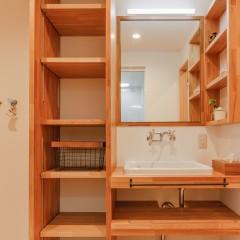 ファミリーボックス・ユートピア設計のデザイン事例-洗面化粧台