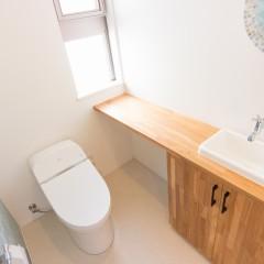 ファミリーボックス・ユートピア設計が建てた30坪台の施工事例-トイレ