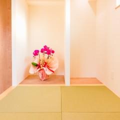 ファミリーボックス・ユートピア設計が建てた36坪台の施工事例-小上がりの和室