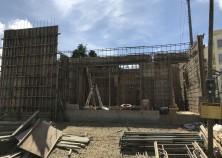壁と梁の鉄筋が組まれました。