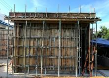 ~躯体 枠完成~  電気水道の配管を設置し、内枠をしたら躯体の枠が完成です! いよいよ建物全体の形が見えてきました^^