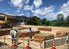 ~土工事開始~ これから基礎の土工事を行っていきます!