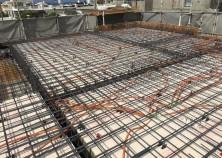 屋根スラブの配筋状況です! 明日生コン打設を行います^^ そのあとは1ヶ月程、養生期間を設けて内部大工開始となります♪