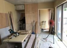 天井・壁が張り終わりました。
