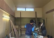内部大工の工事も終盤です。
