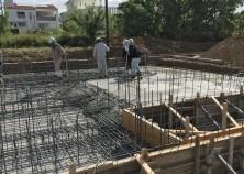 ~基礎打設~ 基礎のコンクリート打設状況です。この後養生期間を設けていよいよ躯体工事にはいっていきます!