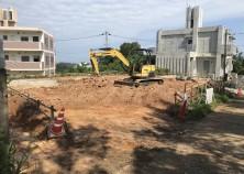 新しい現場、着工しました。 こちらは、鉄筋コンクリート造の平屋住宅です。