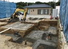 基礎工事開始! 現在、土工事中です。