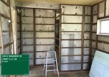 内部造作工事の様子です! 床組み→天井組み→壁の順で進んでいきます。 見えなくなる下地の状態でも、ぬかりなく大工さんの腕がなります(^^)/