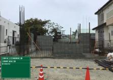 1階壁のCB積み工事が完了しました! これから、壁配筋→電気設備配管→型枠建込みの順で進んでいきます(^^)/