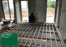 内部造作工事が始まりました! 床組→天井→壁の順に仕上がっていきます(^^)/