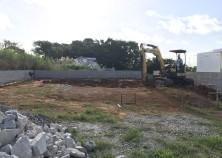 宜野座村で新しい現場が着工しました! こちらは、吹き抜けのあるRC造の平屋になります。 何事もなく順調に工事が進みますように。