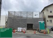 外部足場組みが完了しました! 当物件は2階建ての為、1階のコンクリート打設後にまた足場のせり上げを行います(^^)/