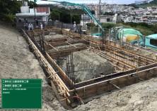 フーチング部が完成し、更に地中梁と呼ばれる基礎の梁部分のコンクリート打設が完了しました!