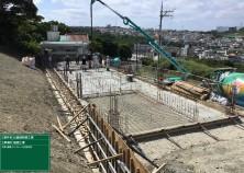 晴天の中、土間(1階床)のコンクリート打設が完了しました! これから暑くなりますが、躯体工事がんばりますよ~(^^)/