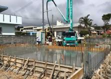 基礎コンクリート打設完了