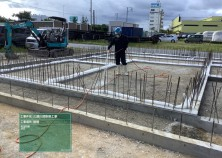 基礎のコンクリート打設が完了しました! 写真は、埋め戻し後の建物内シロアリ防虫処理の様子です(^^)/