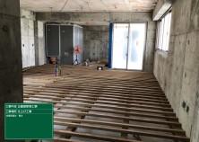 床下地組みの様子です! 電気・設備の配線/配管が完了し、いよいよこれから内部大工工事に入ります(^^)/