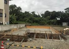 基礎枠組み完了。この後、鉄筋組み→設備配管→コンクリート打設と進みます。