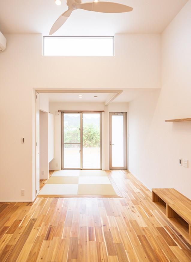親世帯19.7坪・子世帯27.8坪ー完全分離型の二世帯住宅ー