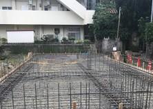 基礎の配筋と基礎枠工事完了 次は基礎のコンクリート打設になります。