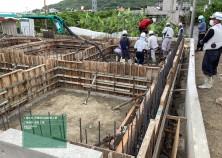 基礎コンクリート打設を行いました!安全第一で進めていきます。