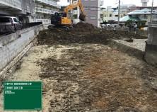 本日より工事着手しました! 表土掘削→地盤改良後の基礎工事へ進みます(^^)/