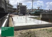 基礎の解体が完了しました! ようやく建物の全貌が見えてきました~(^^)/ 2世帯平屋の為、かなーり大きいです。 これから躯体工事頑張ります!