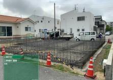 基礎工事 配筋終えて、型枠・コンクリート打設へと進みます
