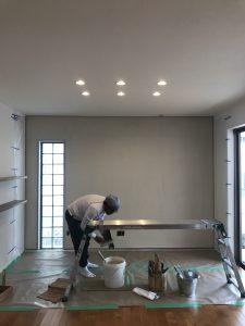 漆喰塗り作業終了