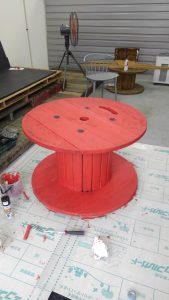 ファミリーボックス・ユートピア設計のブログ-木製ドラム塗装-